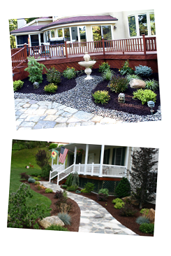Front Deck and Flower Bed
